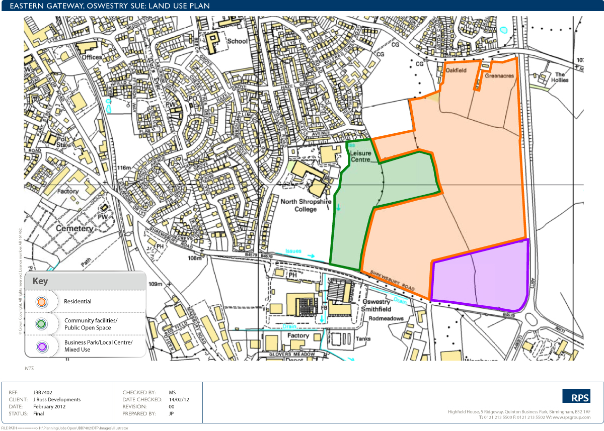Masterplan For Oswestry Sustainable Urban Extension J Ross Development